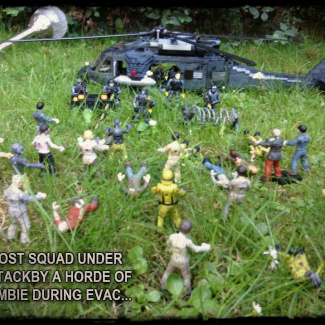 Image of: GHOST SQUAD ARE UNDER ATTACK BY A HORDE OF ZOMBIES DURING EVAC