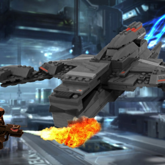 Image of: UNSC Sabertooth With Flame Spartan