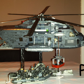 """Image of: custom build """"pave low"""" helicopter"""