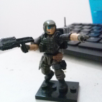 Image of: Halo 2 Marine - Dynamic pose