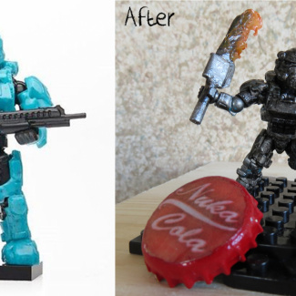 Image of: Fallout Power Armor Before-After