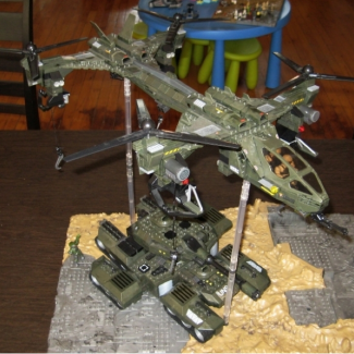 Image of: Custom UNSC UH-288B Dragonfly Heavy-Lift Quad Rotor Helicopter-  Copter Build-off Entry!