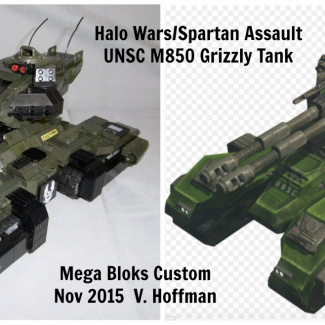 Image of: UNSC M850 Grizzly MBT, A Halo Wars/Spartan Assault themed custom