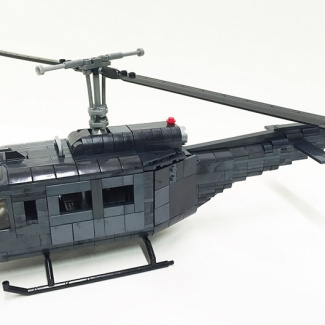 "Image of: Bell UH-1 ""Huey"" Helicopter Custom Build"