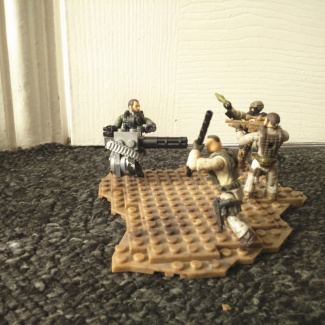 Image of: Custom fallout 4 lone wanderer and Raiders in harnesses.