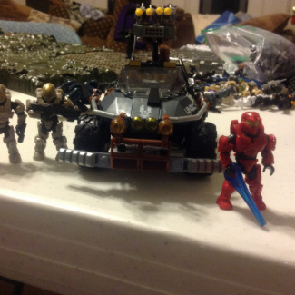 Image of: I was able to get the red Spartan from foxtrot series and customizable warthog