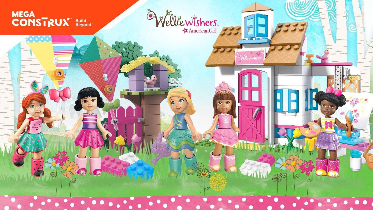 Build big, bright adventures with the WellieWishers!