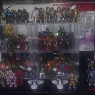 Image of: My current shelf display.