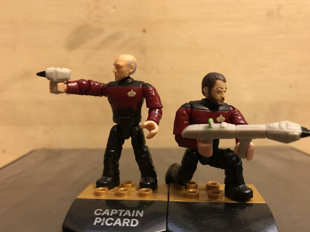 mega construx fan gallery picard and riker with phasers