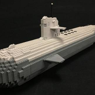ProBuilder Sea Wolf Submarine - Customized