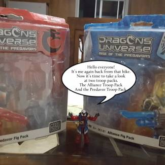 Dragons Universe Alliance and Predavor Troop Packs duel review!