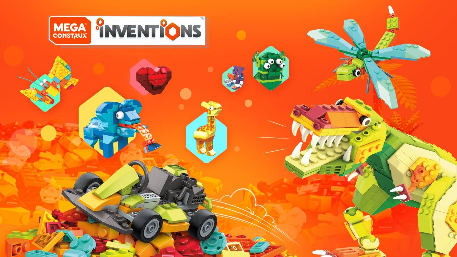 Image of: Mega Construx Inventions™: An all-new way to build!