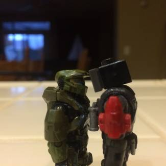Image of: Synthetic vs Master chief