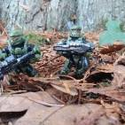 Spartans in a forest