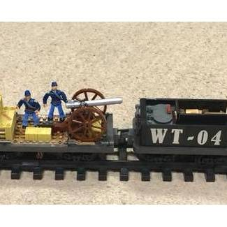 Image of: TrainHeist set works with G scale track!