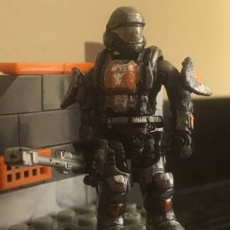 Image of: Custom ODST figure