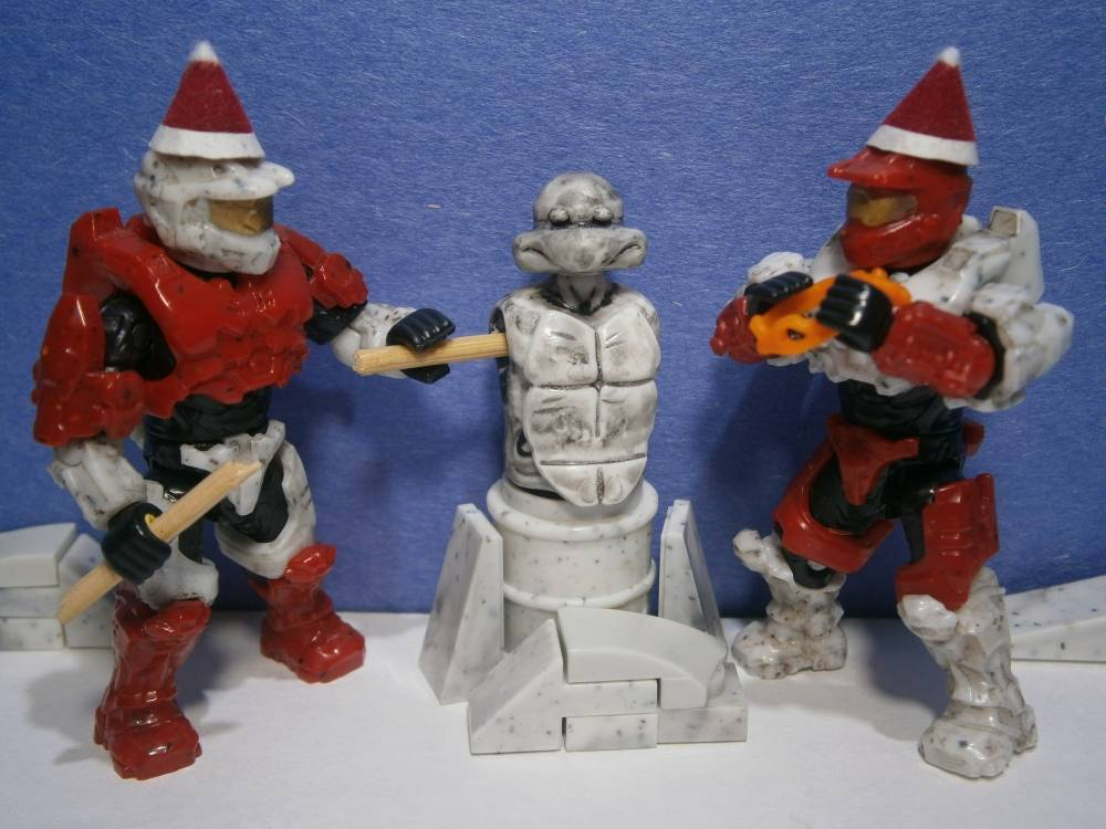 Candy cane Spartans and Snow-Turtle