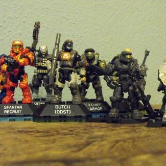 Image of: My halo heroe collection!
