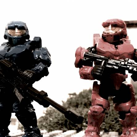 Image of: Custom Red vs Blue Caboose and Sarge