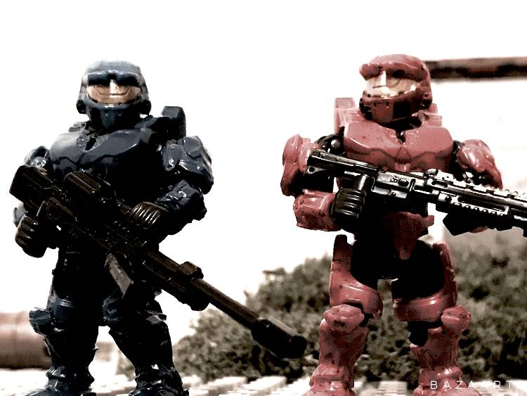 Custom Red vs Blue Caboose and Sarge