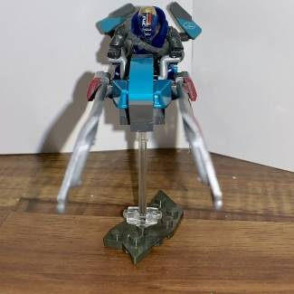 Image of: Modified EV41 Racing Sparrow Building Set and Custom Figure