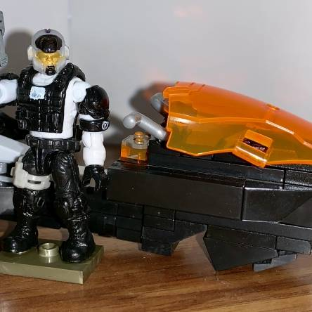 Custom Police Speeder and Officer