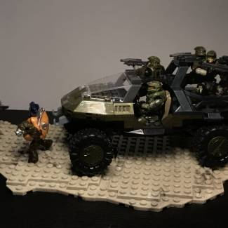 Image of: Custom Halo 3 Troop Warthog