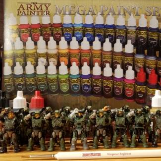 Image of: Halo Mega construx figures + The Army Painter=awesome customs just base coated