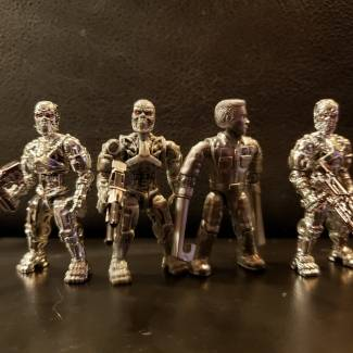 Image of: Silver elecroplated T800 vs stock T800 and T1000