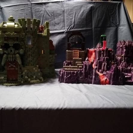 MOTU Castle Grayskull and Snake Mountain