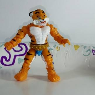 Image of: Tiger Man (Sungold Galaxy Warrior knock-off MOTU figure)