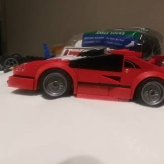 Image of: Small custom red car