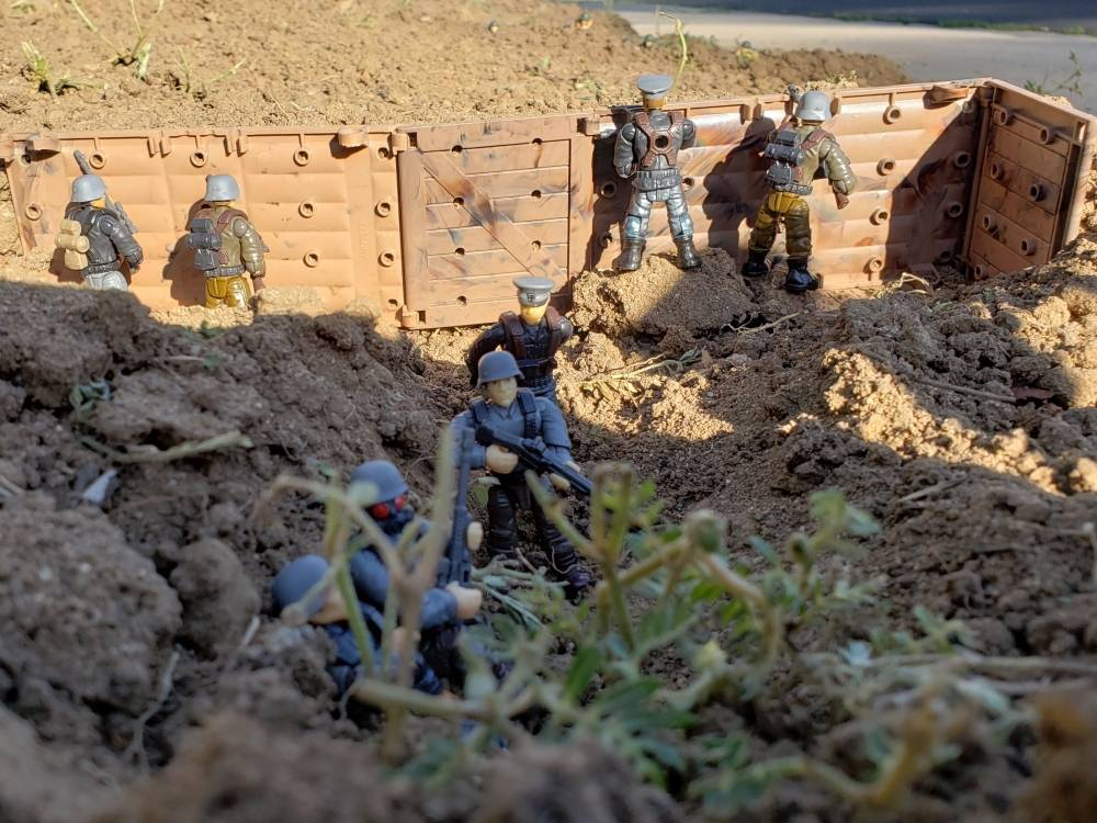 Image of: TRENCH WARFARE 1919 German trench line