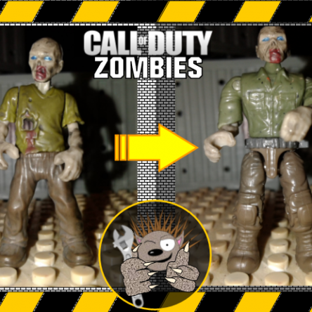 How to Fix Mega Construx unarticulated Zombies