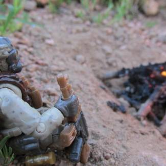 Image of: alone by the fire...