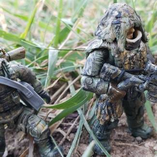 Image of: CUSTOM PAINTED Marine sniper team