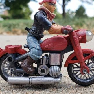 Image of: Custom civilian red motorcycle