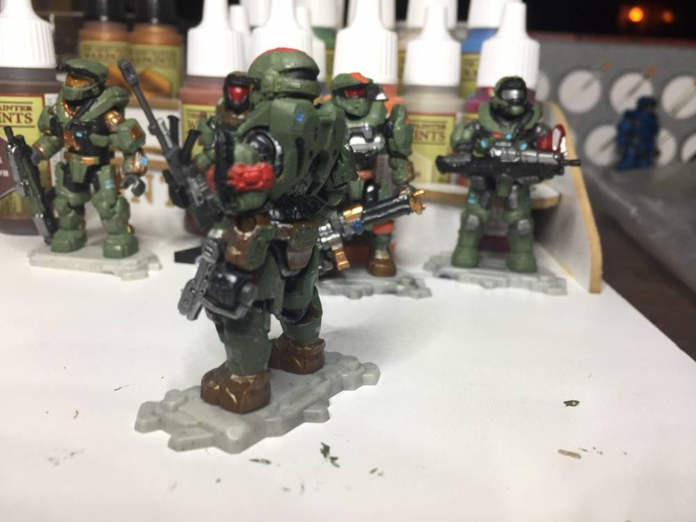 Image of: First Post, First real custom paint Spartans. Reach had the best armor.