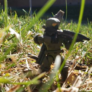 Image of: Marine on campus