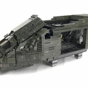 Ultimate Pelican dropship MOC Phase 2 - Cockpit and Armory