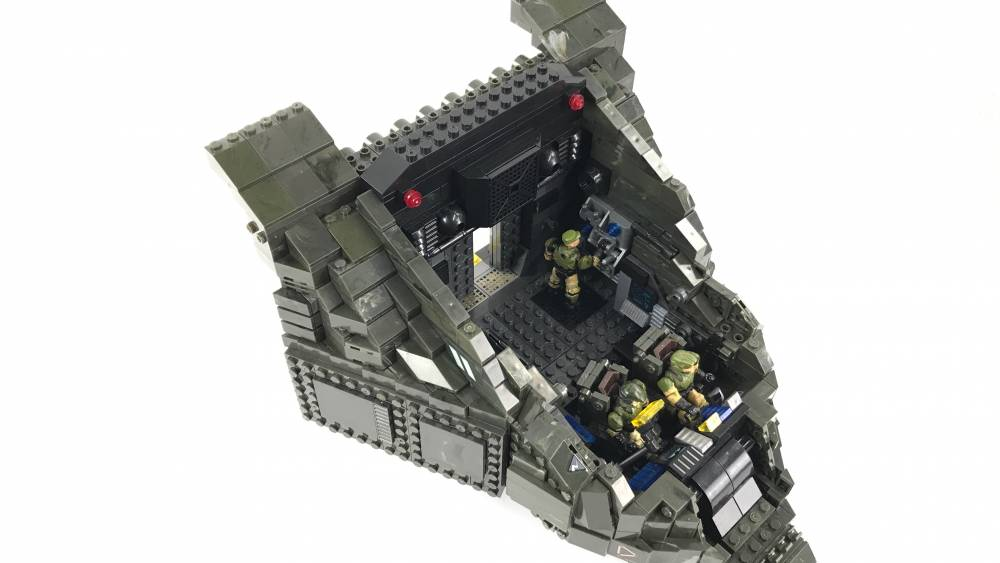 Image of: Ultimate Pelican dropship MOC Phase 2 - Cockpit and Armory