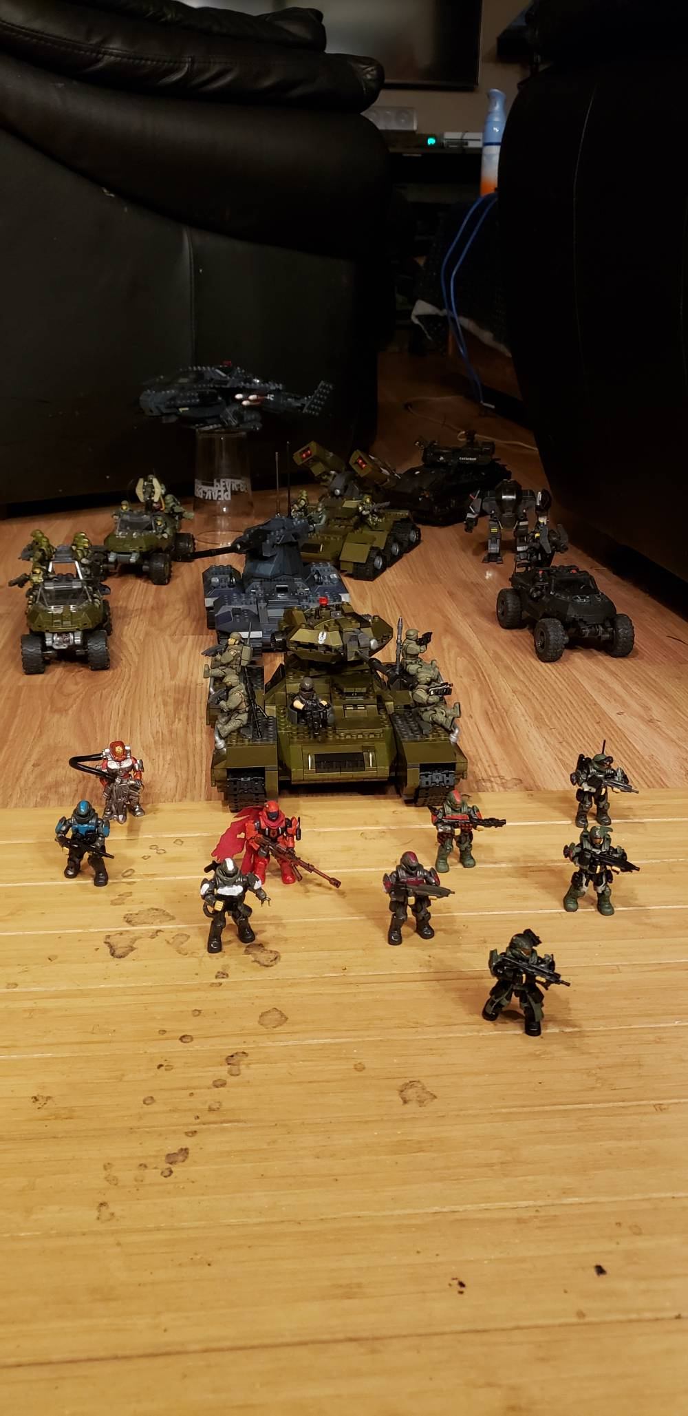 Heavy armor on the move with infantry support