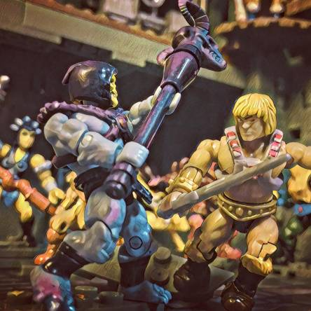 Image of: Skeletor gains the upper hand!