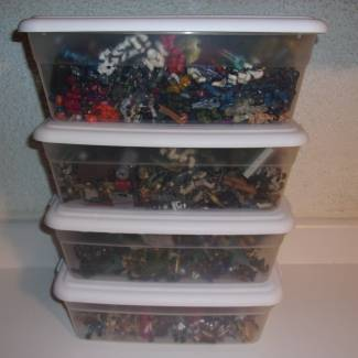 Image of: Collection Close Up: Totes Full of Figures . . .