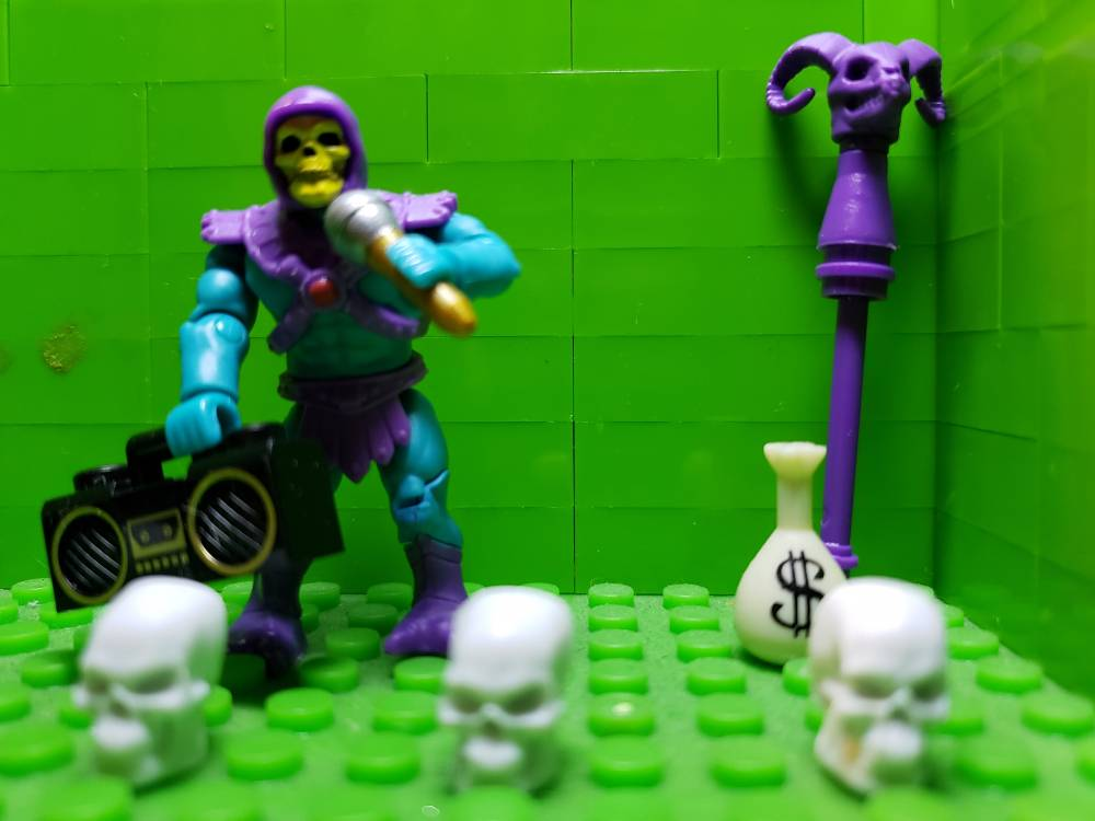 Image of: SKELETOR is ready to Roc Da Mic