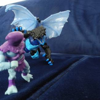 Image of: Masters of the Universe and Breakout Beasts - Skeletor meets Iceblaze