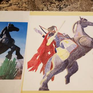 Image of: Drawing II Prismacolor colored pencil Project