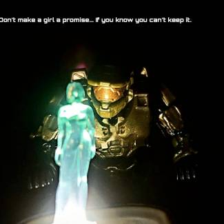 Image of: Chief and Cortana