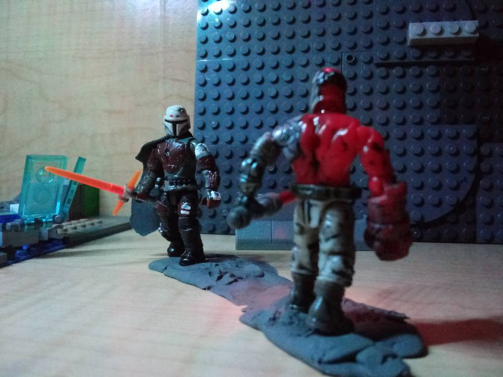 Image of: I've made a weapon, that suits a Mandalorian