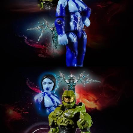 Halo máster chief and cortana